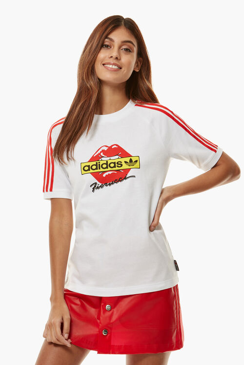 Adidas x Fiorucci Kiss T-Shirt White/Red