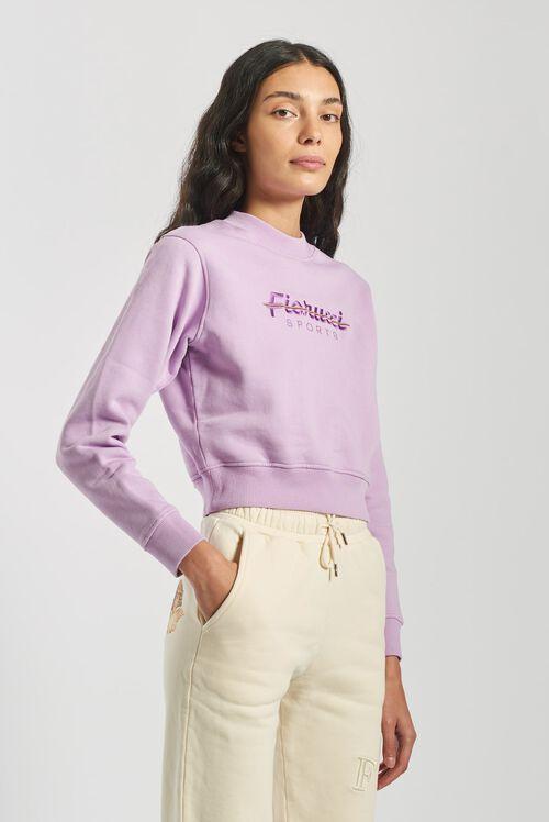 Fiorucci Sport Boxy Sweatshirt Lilac