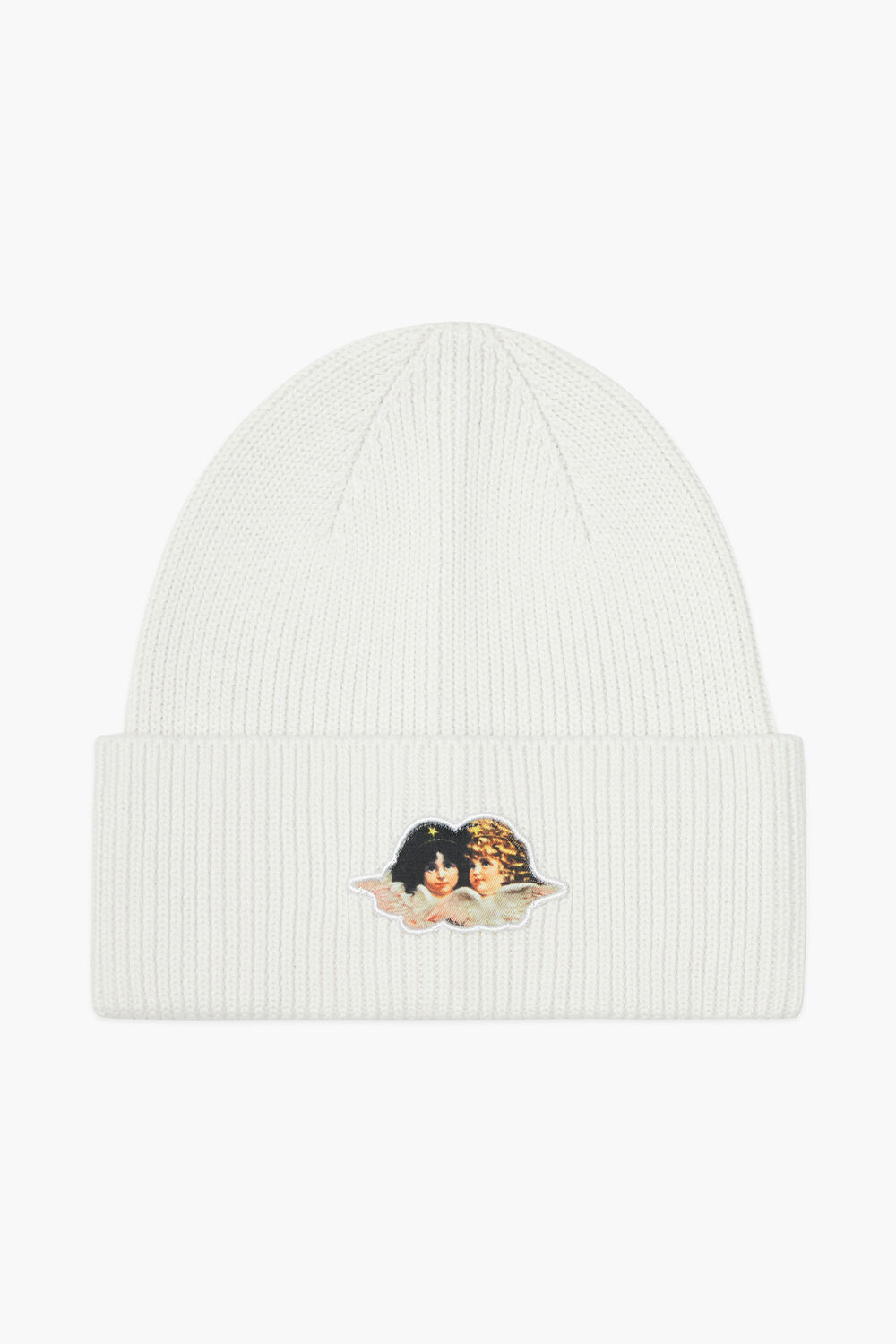 Icon Angels Patch Beanie White