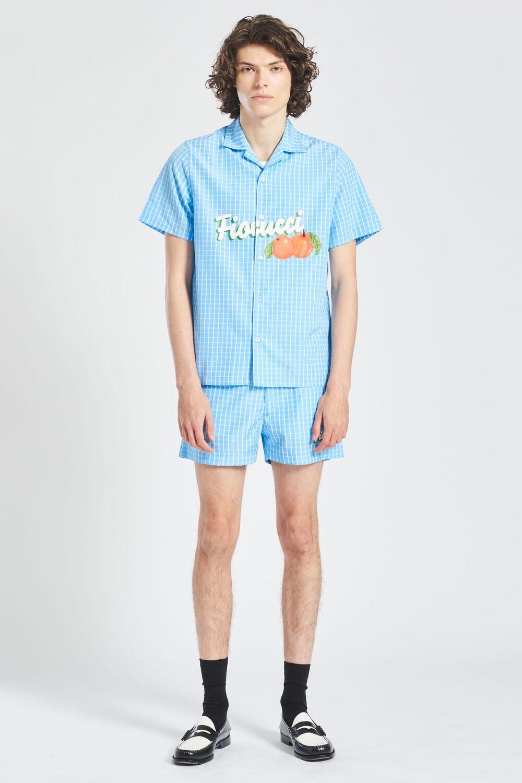 Fiorucci Italia Check Shirt Blue