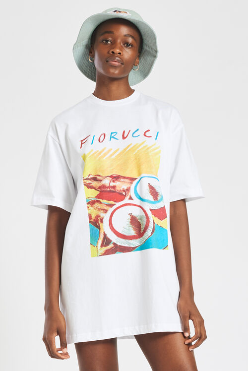 Archive Graphic Print T-Shirt Dress White