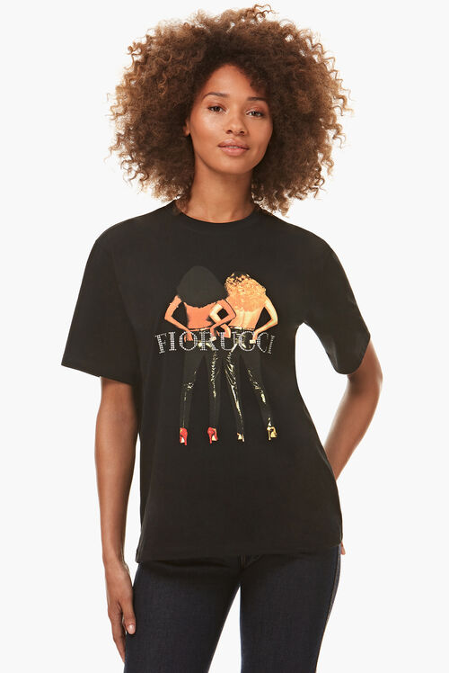 Diamond Vinyl Girls T-Shirt Black