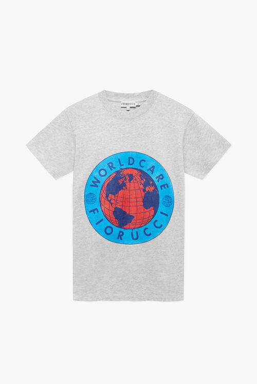 Fiorucci Worldcare Charity T-Shirt Grey