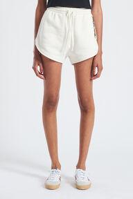 Mono Logo Print Shorts White