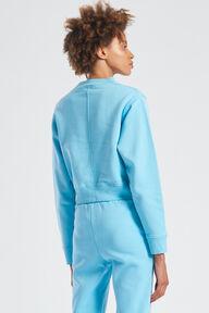 Monogram Logo Crop Sweatshirt Blue
