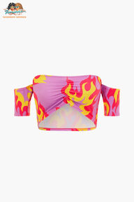 Tara Khorzad Flame Bardot Bandeau Pink