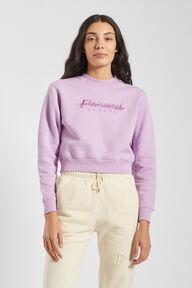 Fiorucci Sport Crop Sweatshirt Lilac