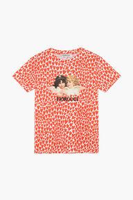 Angels T-Shirt Heart Print Red