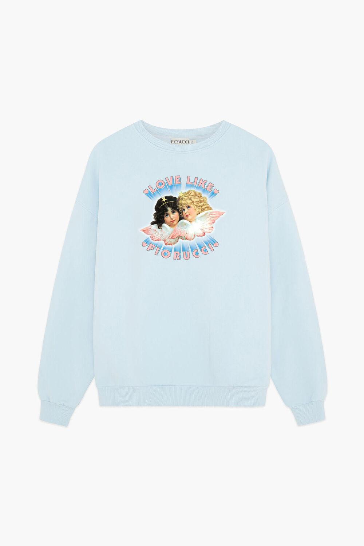Unisex Love Angels Sweatshirt Pale Blue