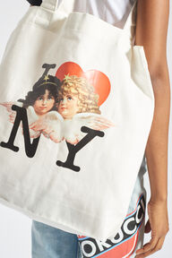 I Love NY Angels Tote Bag White
