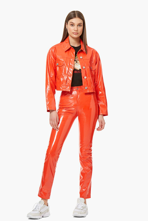 Yves Vinyl Trouser Orange