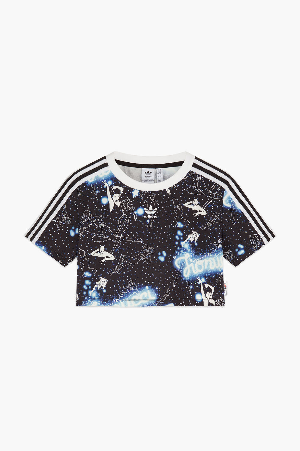 Adidas x Fiorucci Night Crop T-Shirt Black