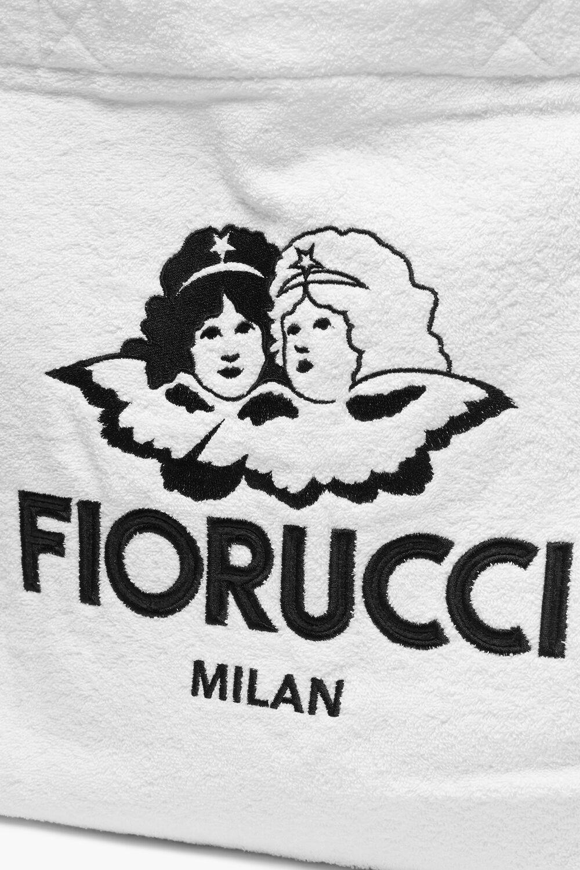 Milan Angels Towelling Tote Bag White