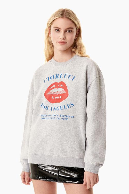 Fiorucci Lips Sweatshirt Grey