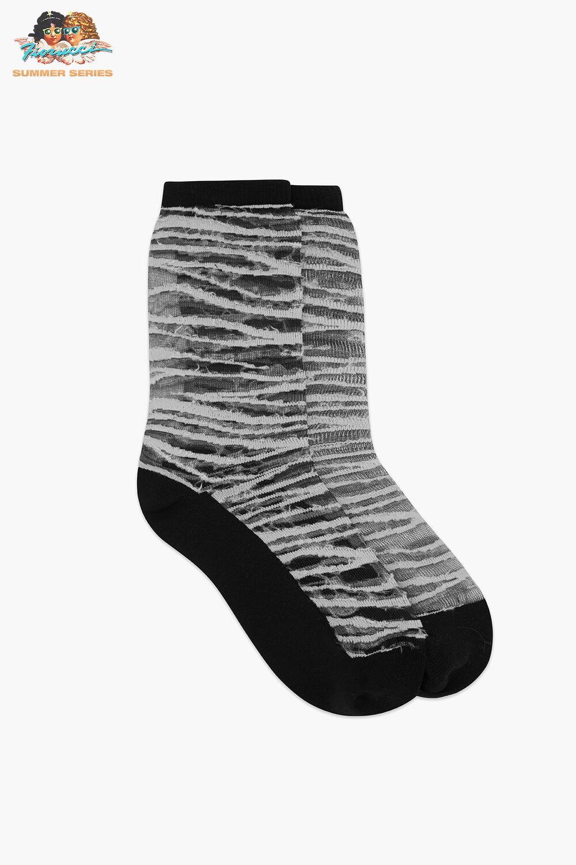 Les Girls Les Boys Static Mesh Socks Black