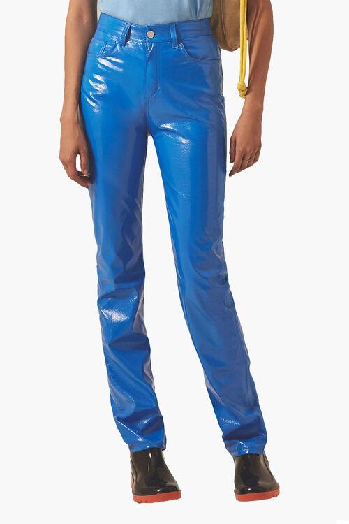 Yves Cigarette Vinyl Jeans