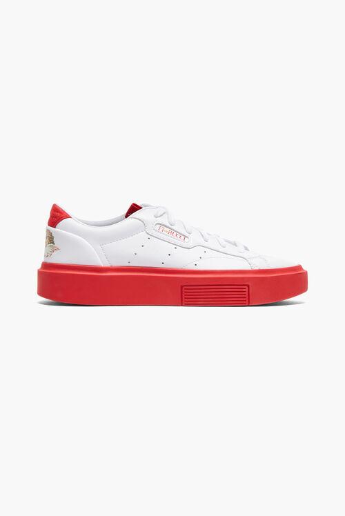Adidas x Fiorucci Super Sleek Trainers White & Red