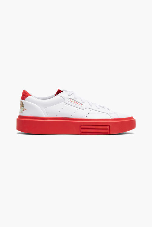 Adidas x Fiorucci Super Sleek Trainers White & Red