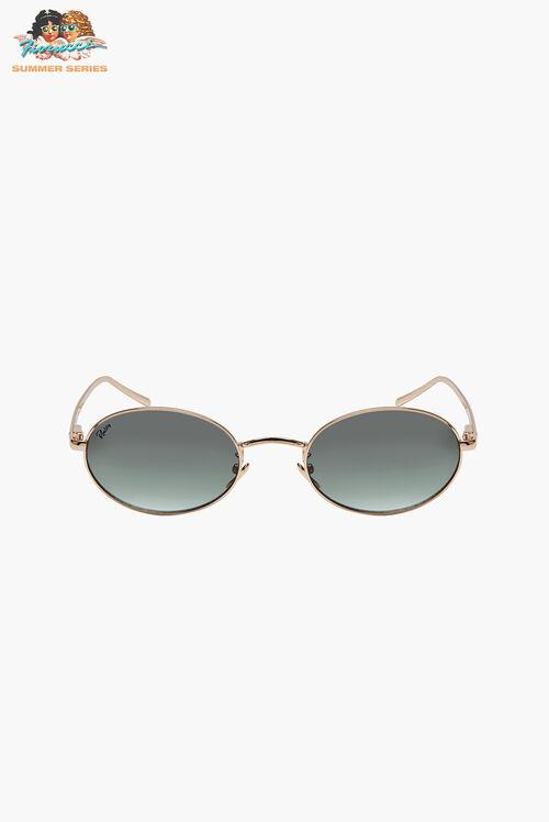 Reality Eyewear Helsinki Gold and Green Sunglasses