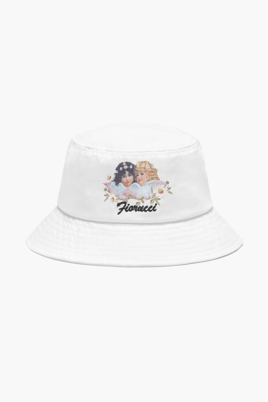 Daisy Angel Bucket Hat White