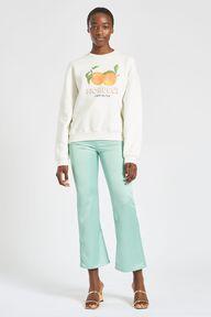 La Pesca Peach Logo Sweatshirt White