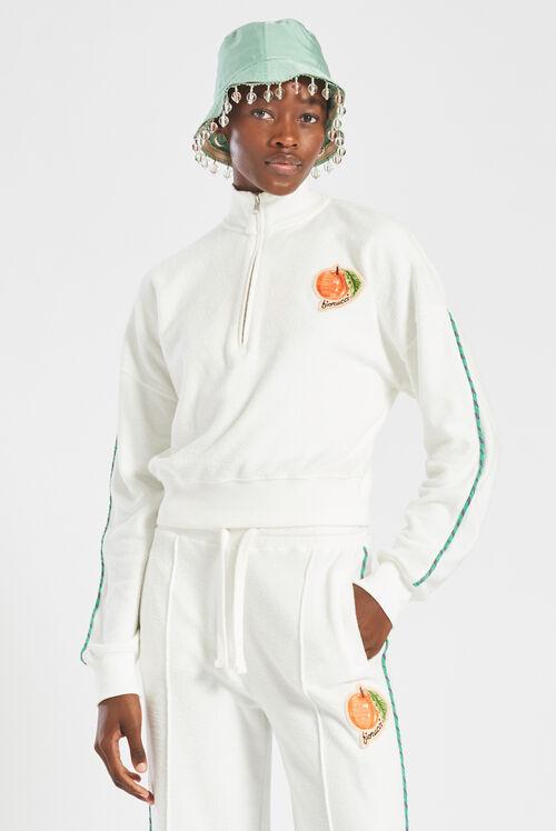 La Pesca Half-Zip Sweatshirt White