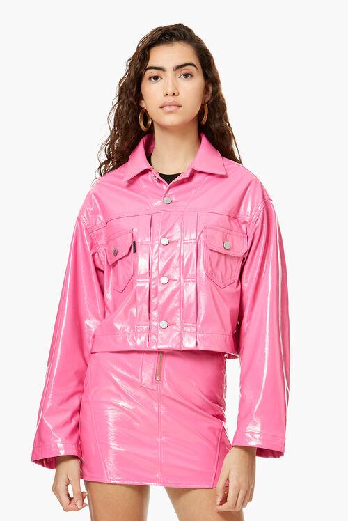 Berty Vinyl Jacket Hot Pink