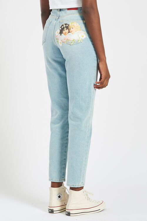 Daisy Angels Patch Tara Jeans Blue
