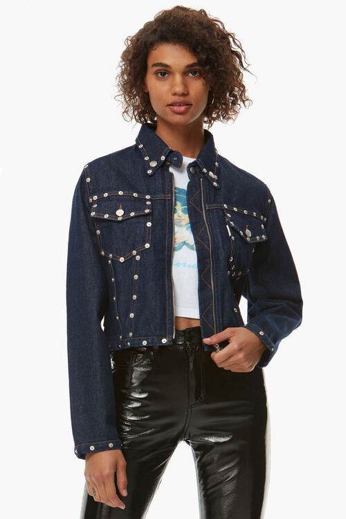 Denim Rivet Detail Jacket